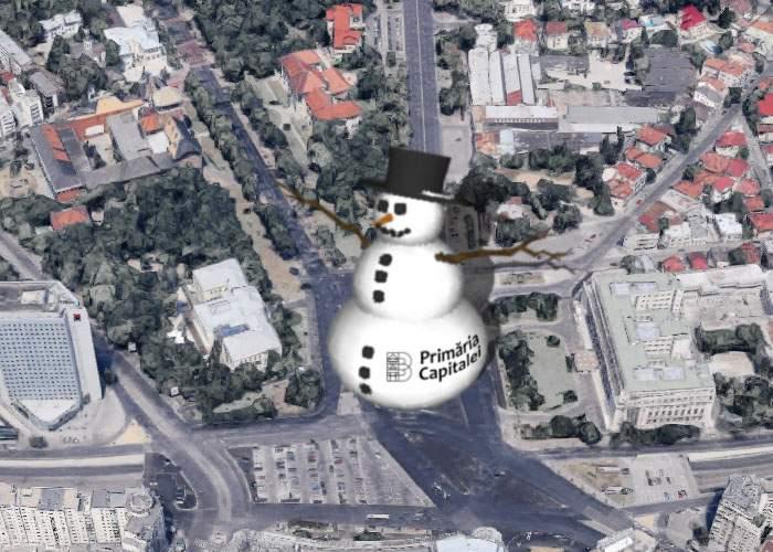 Orice, ca să împiedice protestele! Firea va construi un om de zăpadă gigant în Piaţa Victoriei