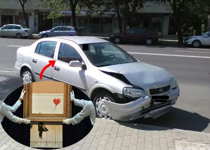Banksy de București. Opelul unui român s-a făcut franjuri imediat după ce l-a cumpărat