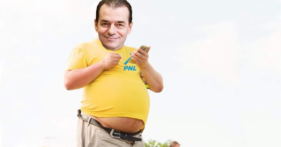 Ludovic Orban şi-a trucat o poză, să pară că a mâncat şi el ca spartu' de sărbători