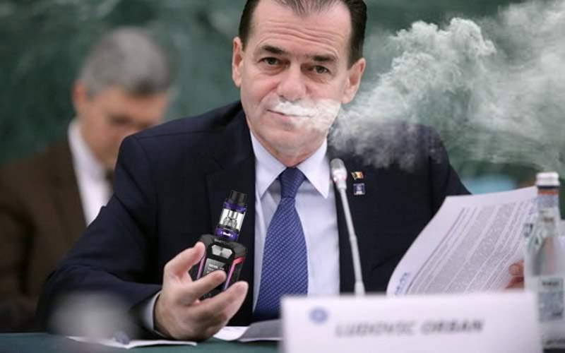 Digitalizare la Guvern! Ludovic Orban a trecut pe ţigări electronice