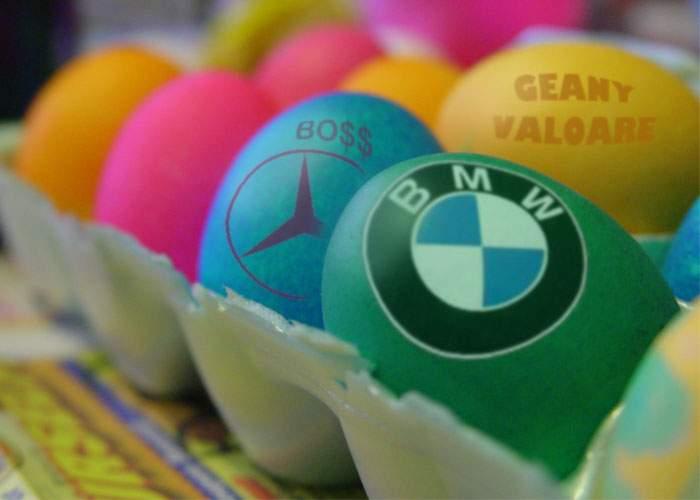 De Paşti, cocalarii îşi încondeiază ouăle cu sigla BMW sau Mercedes