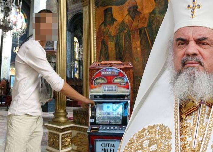 Patriarhia profită de pasiunea românilor pentru păcănele şi a decis să pună butoane pe cutia milei