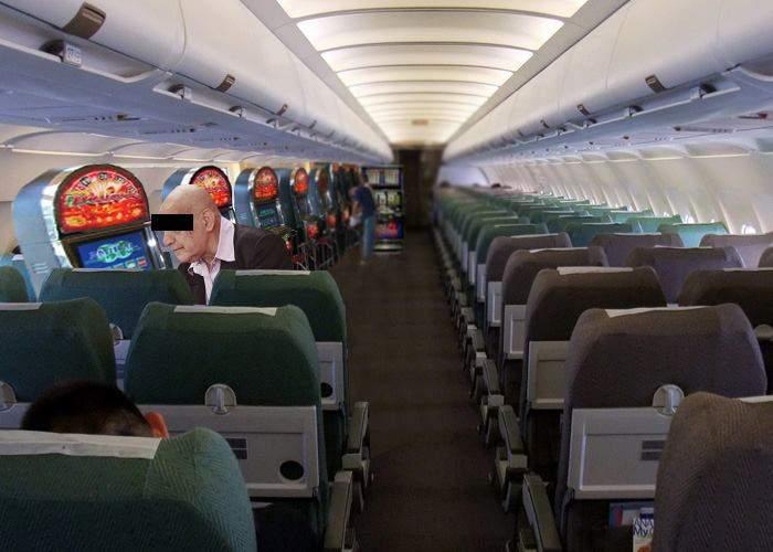 Ideea genială! Pentru a atrage și mai mulți clienți, cursele low cost introduc păcănele la bord