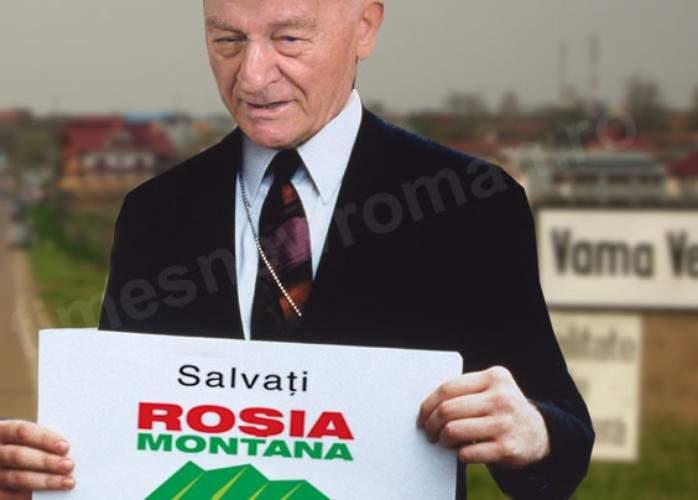 Poza Zilei: Susţinător surpriză pentru Roşia Montană! Octavian Paler se alătură protestelor!