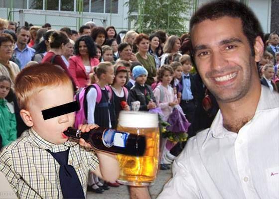 Prima zi de școală! Părintele care a câștigat la Facebook: a pus o poză cu el și fiul său la o bere