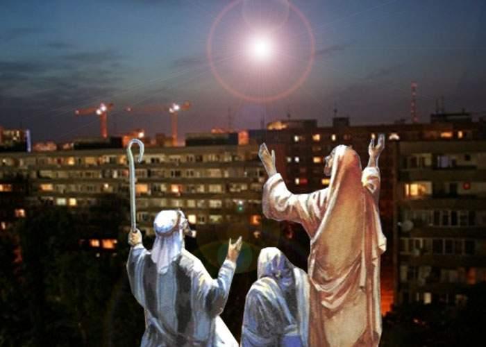 Miracol! O stea apărută pe cer a înştiinţat mii de păstori din Berceni că e promoţie la bormaşini