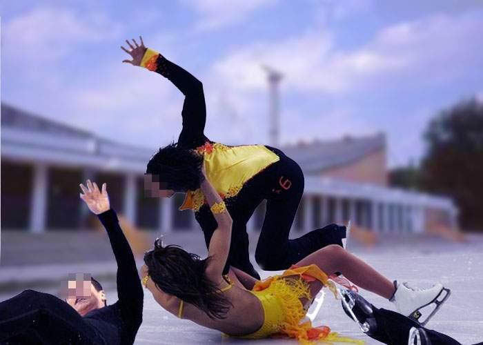 România nu va trimite patinatori la Soci! Întreg lotul s-a accidentat căzând pe gheaţă în Bucureşti