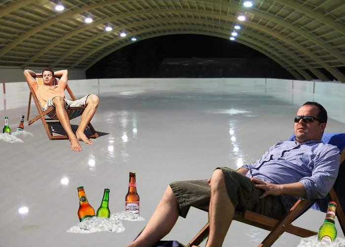 Respect! La AFI Palace Cotroceni se mai deschide un patinoar, unde să-și țină bărbații berea la rece