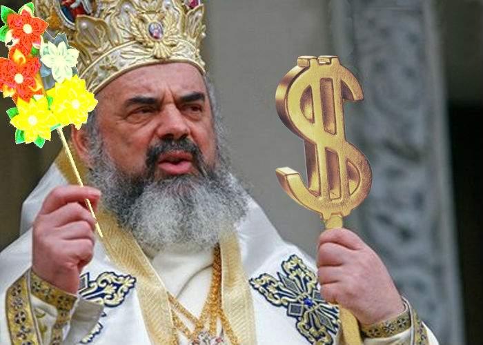 Patriarhul Daniel a dat 3 milioane pe o sorcovă uriaşă de aur, dar şi-a scos deja banii