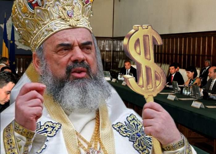 """Patriarhul dă o mână de ajutor la buget: """"Luăm noi tot, să nu vă mai certaţi!"""""""