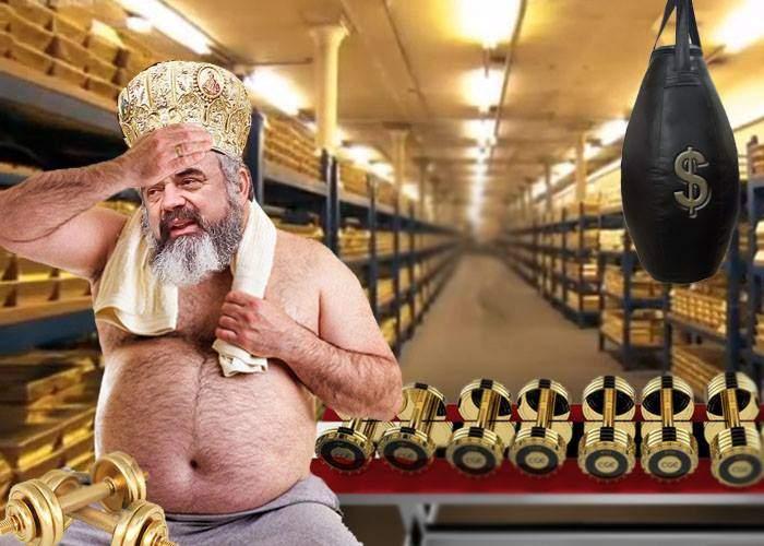 Se apucă până și Patriarhul Daniel de sport? Tocmai și-a comandat un set de gantere din aur