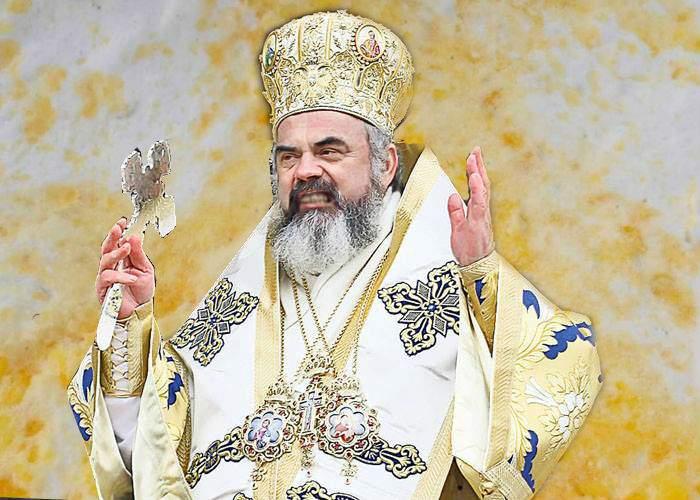 Probleme de sezon! Patriarhul Daniel s-a tăvălit în zăpadă galbenă, convins că e de aur