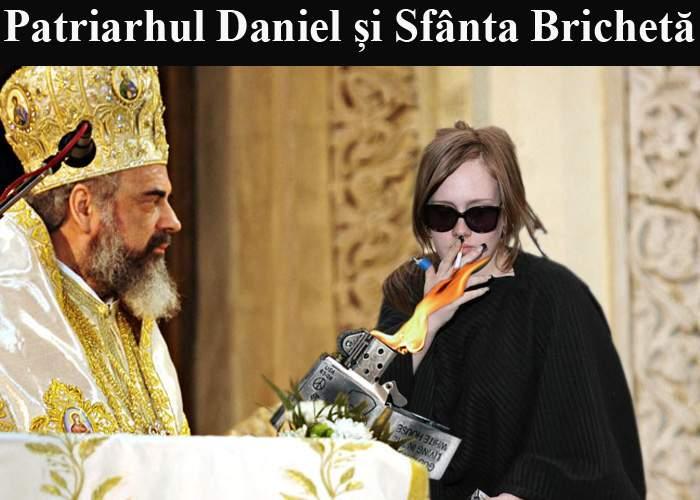 Patriarhul Daniel încurajează fumatul în public, pentru că aşa se formează bisericuţele