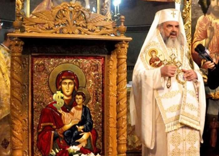 Semn divin! Patriarhului Daniel i s-a arătat simbolul dolarului într-o icoană făcătoare de bani