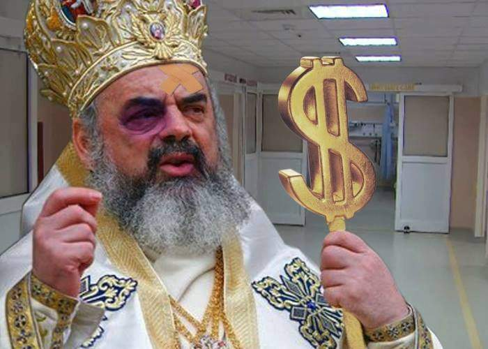 Patriarhul, în spital! S-a împiedicat de un teanc de bani și a dat cu capul de seiful din dormitor