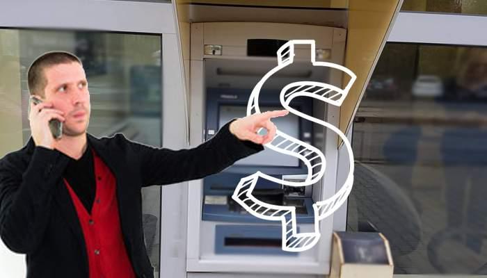 Superstiţie. De teama comisioanelor bancare, un patron face semnul dolarului când trece prin faţa bancomatelor