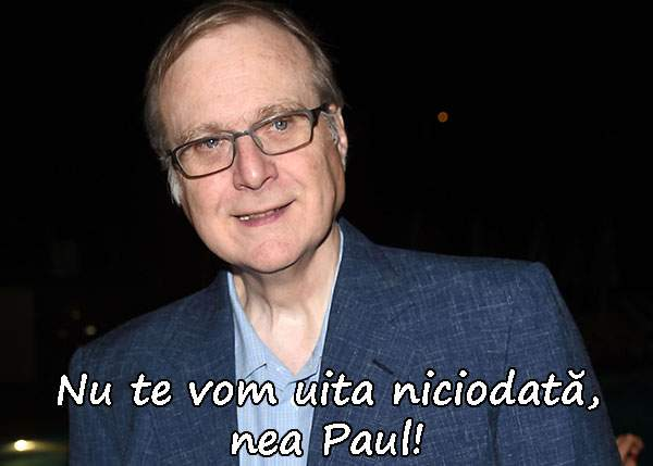 Cofondatorul Microsoft Paul Allen a murit fără ca lumea să știe că-i român