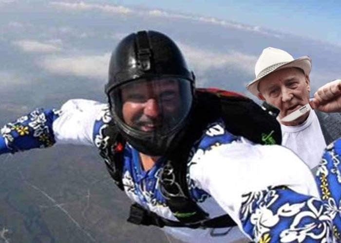 Un paraşutist a căzut în gol după ce un pensionar i-a tăiat corzile de la paraşută