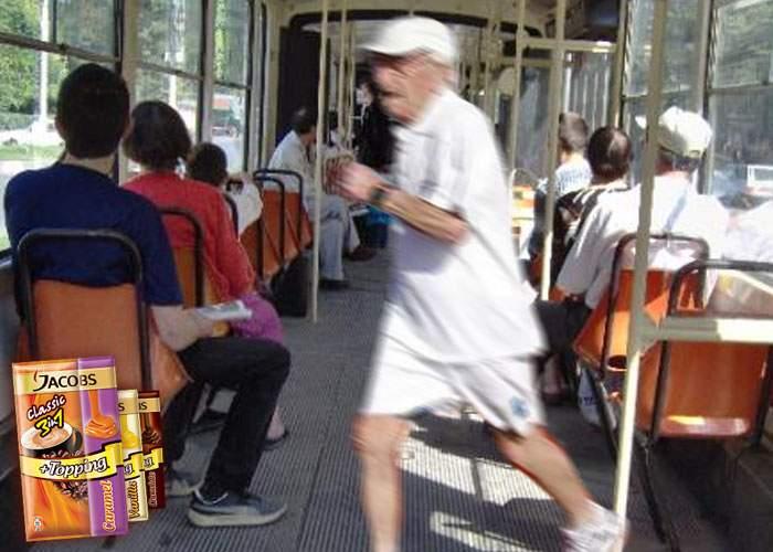 Recordul lui Usain Bolt, spulberat de un pensionar care a ţâşnit spre un loc liber în tramvai