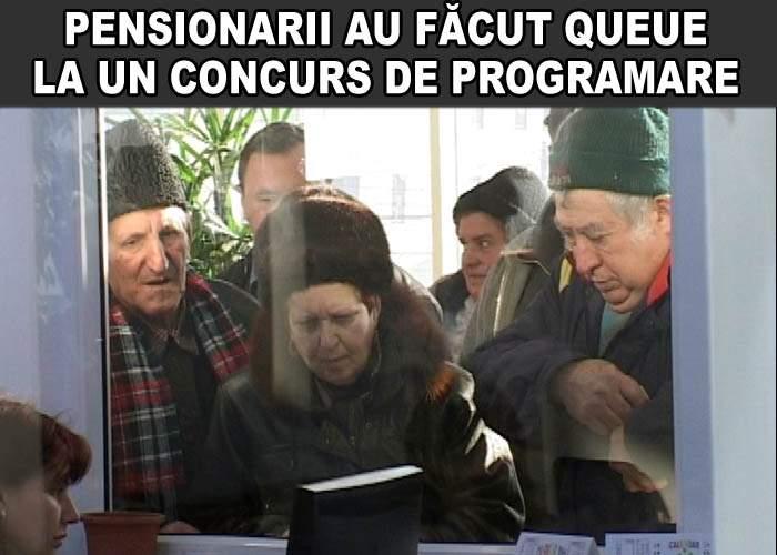 Peste 500 de pensionari au făcut queue ca să se înscrie la un concurs de programare