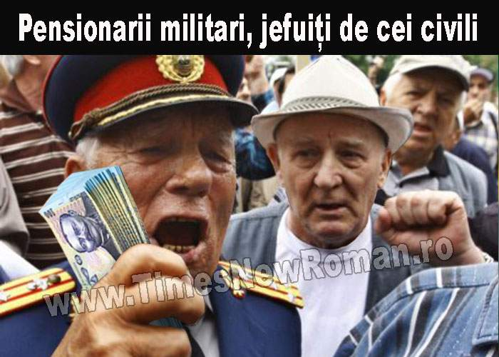 Bande de pensionari civili îi jefuiesc pe pensionarii militari