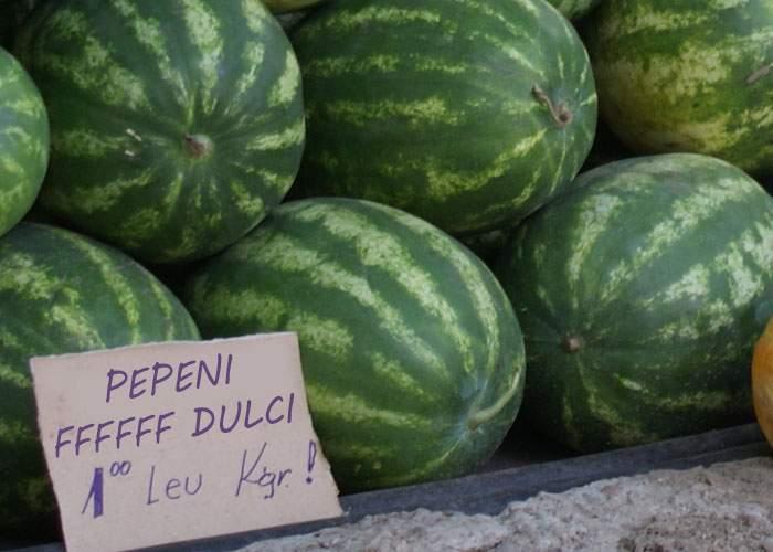 Fenomen FFFFF rar! Din cauza căldurii, pepenii FFFFF dulci au revenit în pieţe