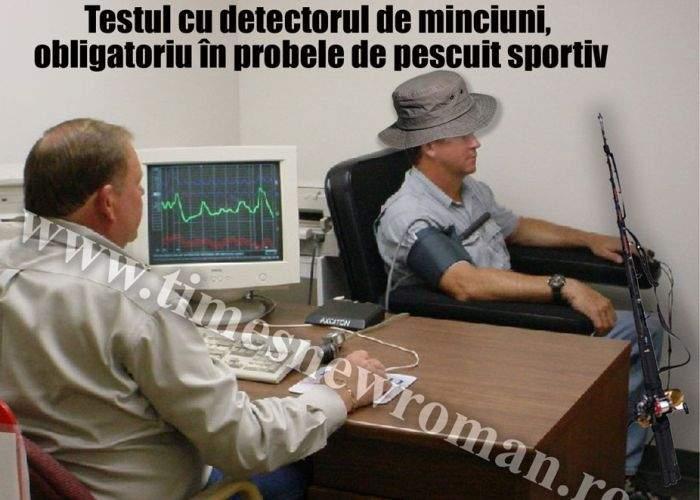 Testul cu detectorul de minciuni devine obligatoriu în proba de pescuit sportiv
