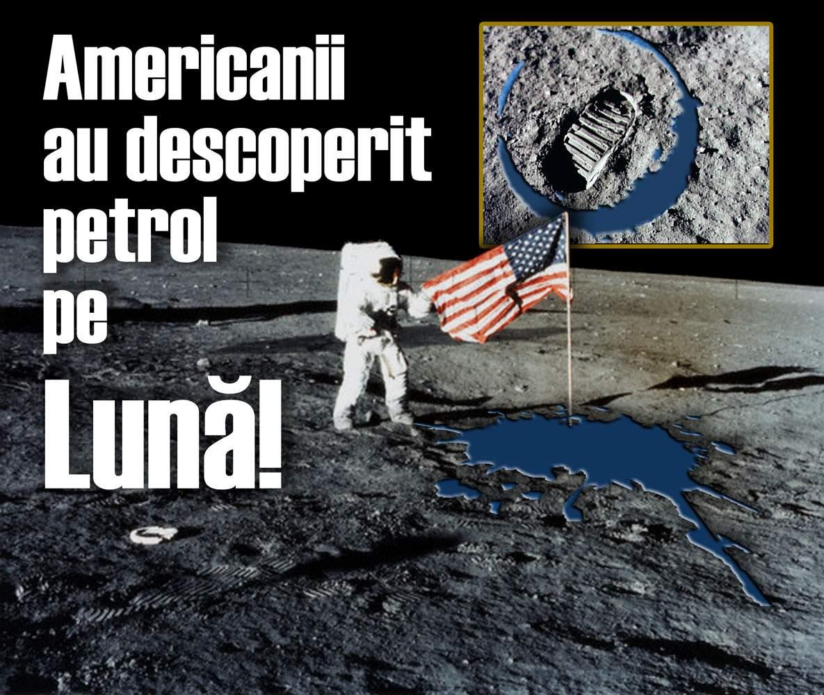 NASA a descoperit rezerve de apă, petrol şi gaze naturale pe Lună