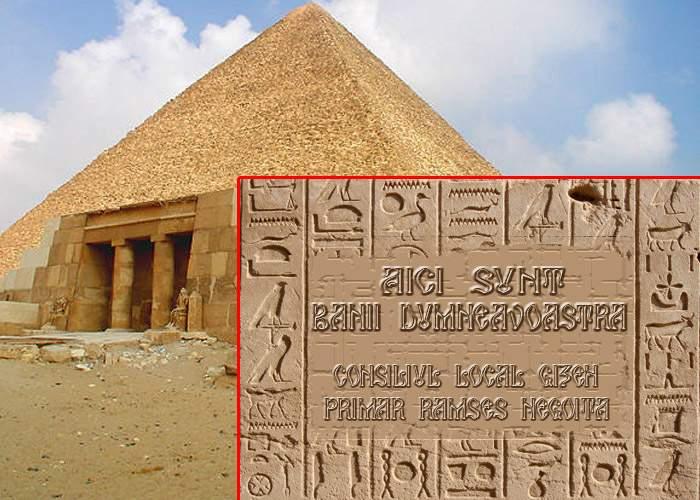 """Hieroglifele misterioase de pe piramida lui Kheops, descifrate! """"Aici sunt banii dumneavoastră"""""""