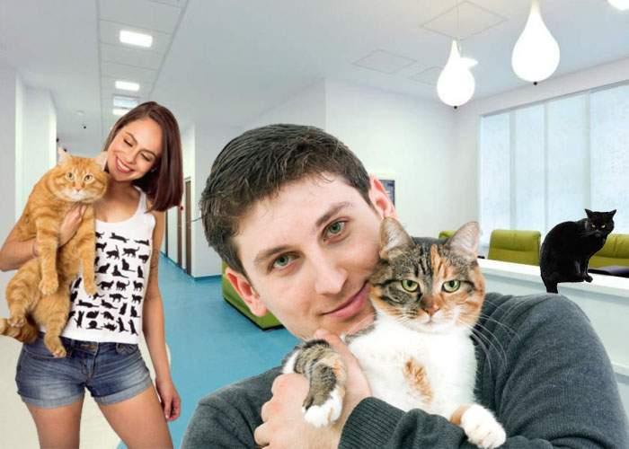 Angajaţii MedLife se plâng că mulţi pacienţi vin cu pisicile, că au auzit că au laser în clinică