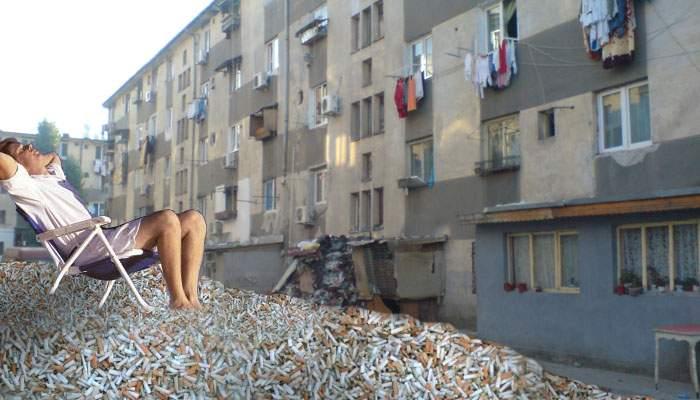 După ce a strâns 4 milioane de chiștoace, un boschetar a deschis o plajă privată în fața blocului