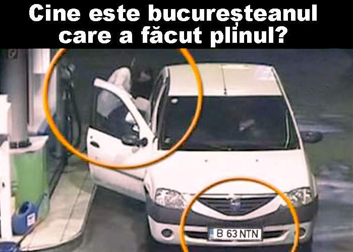 Un bărbat necunoscut a făcut plinul la mașină
