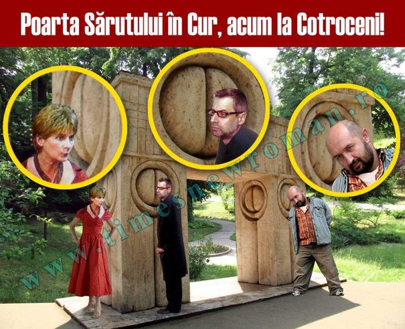 Poarta sărutului în cur, inaugurată la Cotroceni