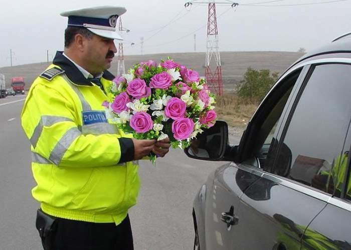 8 Martie de coşmar pentru o şoferiţă: M-a oprit Poliţia de 174 de ori, să-mi dea flori!