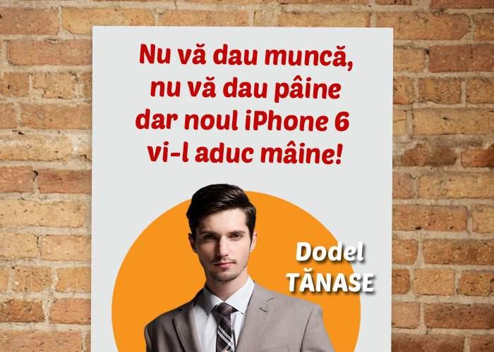 Strategie: un candidat le promite alegătorilor din Dorobanţi că iPhone 6 va fi lansat mai devreme