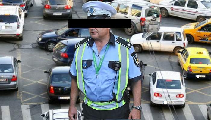 Terorism în Capitală. Un poliţist de la circulaţie a devastat o intersecţie, dirijând-o ca un bou