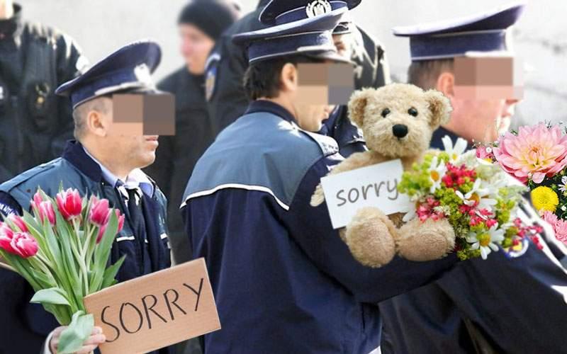 Poliţiştii bătuţi în Vâlcea, trimişi de şefi să-şi ceară scuze de la clanul de romi
