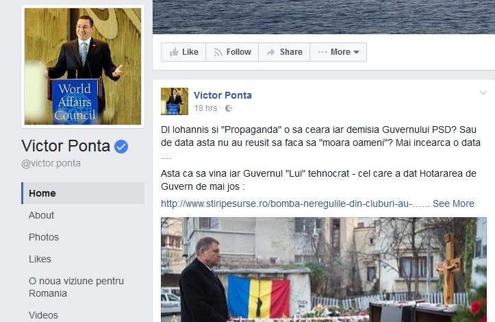 După ce-a spus că Iohannis a dat foc la Bamboo, Ponta a fost programat la o lobotomie, să nu se mai chinuie