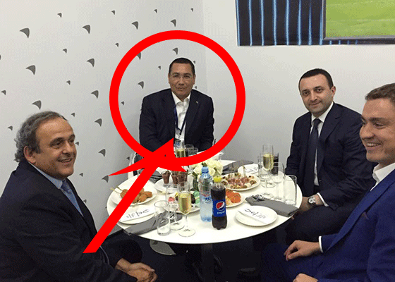 Michel Platini, un om din popor: S-a pozat cu un chelner șchiop la Tbilisi