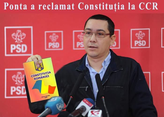 Victor Ponta a reclamat la CCR neconstituţionalitatea Constituţiei României