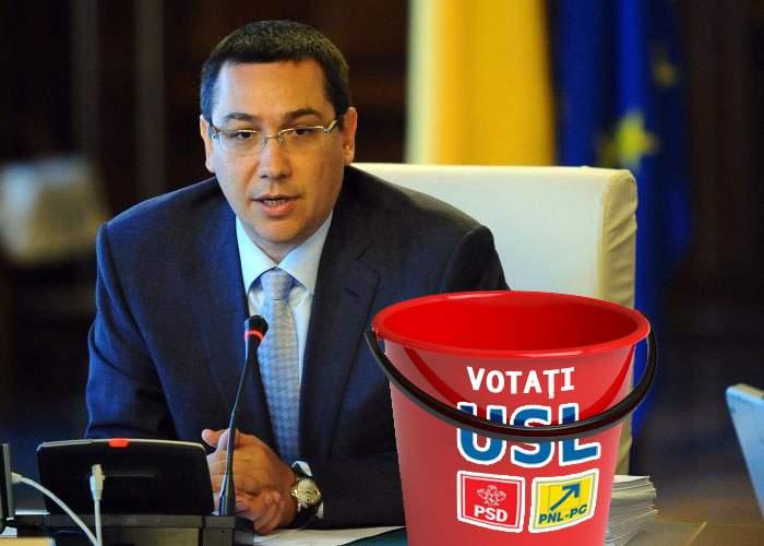 Ponta: USL nu are cum să se despartă, am imprimat deja găleţile pentru alegeri