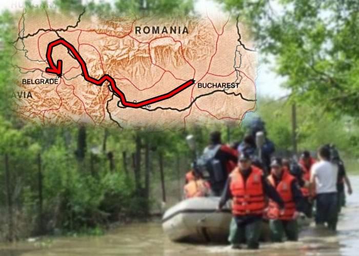 Vizită oficială! Ponta şi-a ales cei mai vânjoşi jandarmi, să îl tragă cu barca până în Serbia