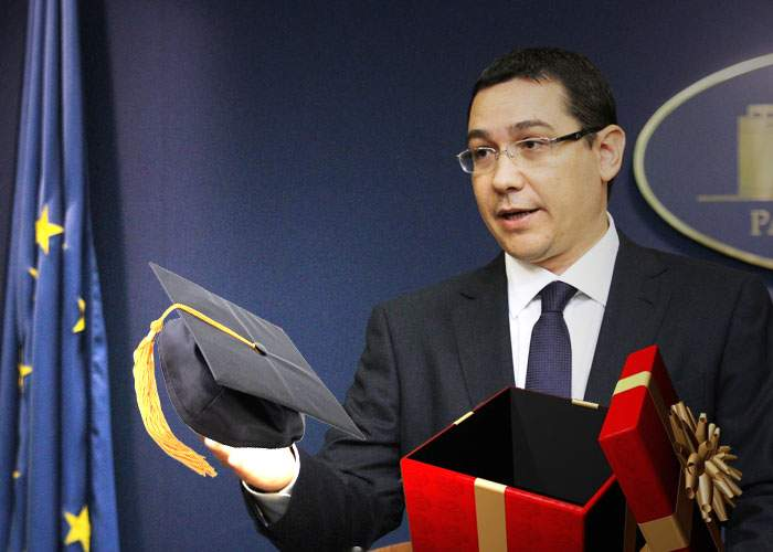 Victor Ponta a primit de ziua lui trei doctorate, cinci masterate şi un premiu Nobel