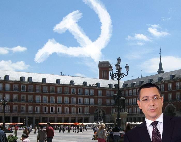 Semn divin în timpul vizitei lui Ponta la Madrid! Pe cer au apărut nori în formă de seceră şi ciocan