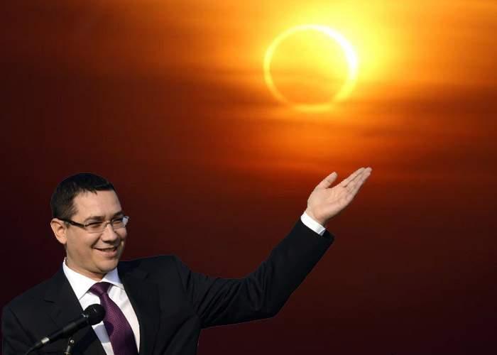 """Ponta, premier şi astrolog: """"Eclipsa e un semn divin că trebuie eliberaţi corupţii din puşcării!"""""""