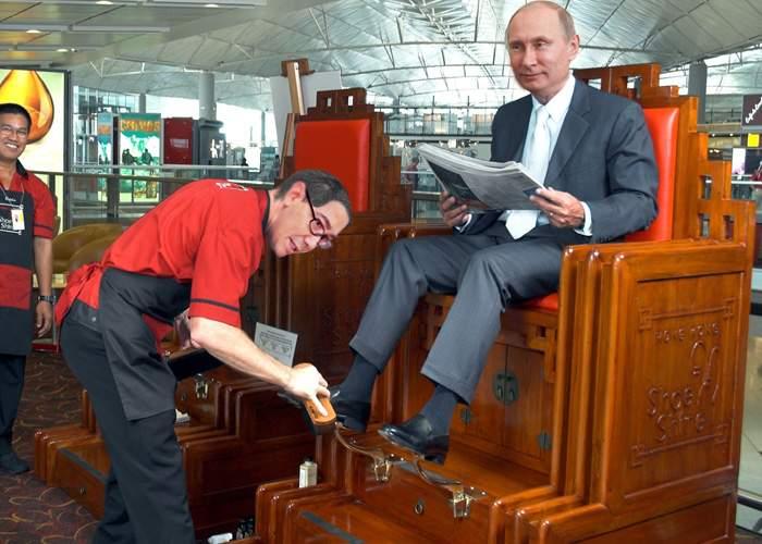 Ponta, tratat regeşte la Soci: Domnul Putin m-a lăsat să-i fac ghetele, suntem prieteni, ce mai!