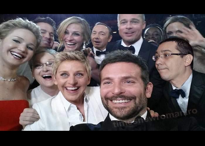 Foto! Selfie-ul cu Victor Ponta şi alţi actori de la Hollywood face furori pe internet