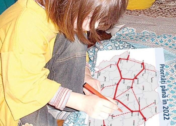 Poza zilei! Ponta a plagiat grosolan! Planul de autostrăzi reproduce desenul unui preşcolar