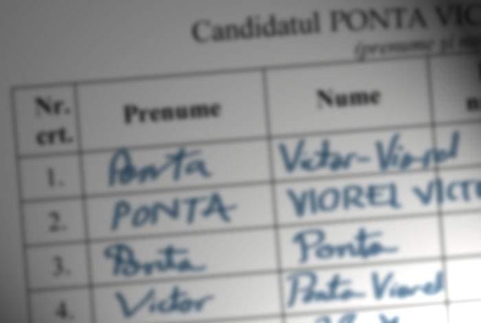 Suspect: Pe lista de susţinere a lui Victor Ponta, 75% dintre semnături sunt ale lui Victor Ponta