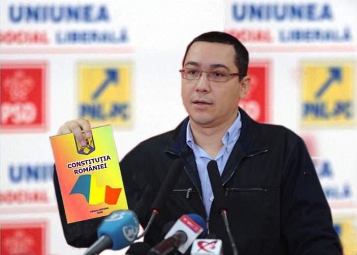 """Ponta, despre cum va modifica Constituţia: """"Tot ce trec în CV devine literă de lege!"""""""